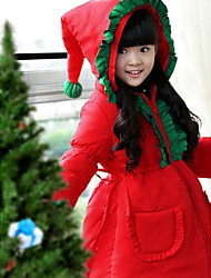Cosplay Costumes Santa Suits Festival/Holiday Halloween Costumes Solid Coat Christmas Kid Polyester