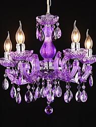 mini-chandelier acrílico cinco luzes 220 ~ 240V