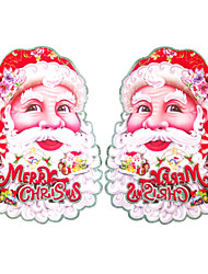 Christmas Decorations Christmas Stickers Stereo Double Draw Large Santa 1 Packs Of 2