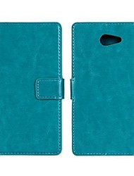 Solid Color PU Leather Full Body Case  for Sony Xperia M2/S50H (Assorted Color)