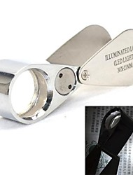 30X 21mm Jewelers Loupe / Magnifier with 2-LED Illumination (3*LR927)