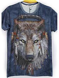 moda masculina de mirtilo 3d imprimir curto tshirt 2068