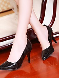 Women's Shoes Pointed Toe Stiletto Heel Leather Pumps Shoes