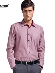 Lesmart Men's Plaid Casual Shirt