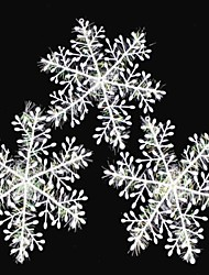 10 PCS Christmas Decoration White Snowflake Ornaments 28CM
