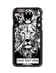 cassa del telefono personalizzato - caso leone disegno metallo per il iphone 6