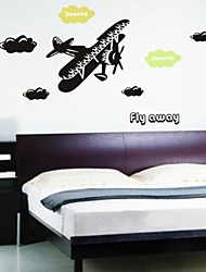 Wall Stickers Wall Decals, Black Fly in The Sky PVC Wall Stickers