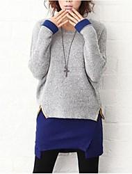 dos piezas de las mujeres dousiy tejer suéter de manga larga