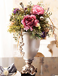 "22""H Luxurious Peonies In Polyresin Vase Arrangement"