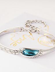 Work / Casual Gold Plated / Gemstone & Crystal Cuff Bracelet