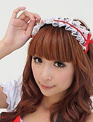 Sweety Bowknot Lace Embellished Hairband Red