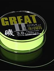 Spool  Meter Green Nylon Fish Lure Fishing Line 0.28MM (12lb 6.3kg 150M  Green)