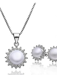 Hight Quality Elegent Pearl Necklace& Earring Jewelry Set