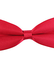Red Solid Bow Tie