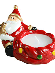 Christmas Santa Shape Candle Holder ,Ceramic