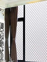 Haushalt klassische weiße Raute Fensterfolie - 0,5 x 5 m (1,64 × 16,4 ft)