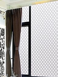 Household Classic White Rhombus Window Film - 0.5 × 5 m (1.64 × 16.4 ft)