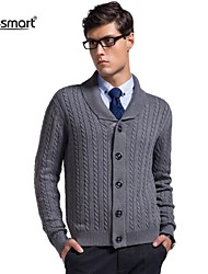 Lesmart® Men's Lapel Thick Cotton Knit Cardigan