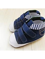 Chaussures bébé - Bleu - Extérieure - Toile de jean - Baskets à la Mode