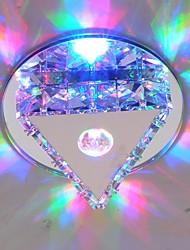 скрытого монтажа привели кристалл потолочный светильник 3W RGB нержавеющей стали&кристалл