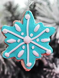 argile polymère flocon bonbons pendaison décoration de Noël