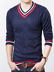 Men's V Neck Knit Sweater