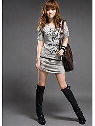 grigio zip frontale maglietta tunica