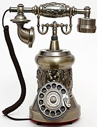 Europe Style Polyresin Material with Metal Home Decor Telephone with ID Display, Antique Bronze