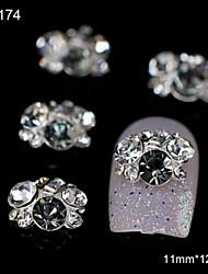 10pcs Rhinestone Gruppe glitter grau diy Legierung Zubehör Nagelkunstdekoration