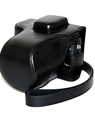 caso protetor pajiatu® Retra pu de couro da câmera para xt1 fuji FUJIFILM x-t1 com lente 18-55mm