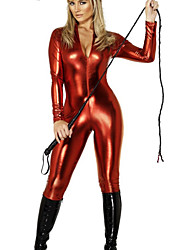 Zentai Suits Uniforms Festival/Holiday Halloween Costumes Red Solid Leotard/Onesie Halloween / Christmas / Carnival Unisex / Female PVC
