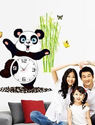 Wall Clock adesivos adesivos de parede, encantadores de parede panda pvc adesivos
