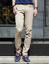 Men's Casual Pure Cotton Straight Pants(Without Belt)