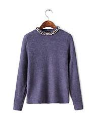 Frauen Casual Rundhals Baumwolle Pullover (weitere Farben)