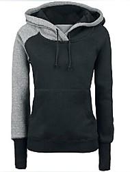magros dois hoodies cor da costura das mulheres
