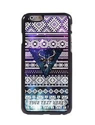 caso de telefone personalizado - o veado no caso triângulo design de metal para iphone 6 mais