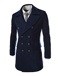 Brother New Linen Double-breasted Coat  8647(black,navy blue,dark gray)