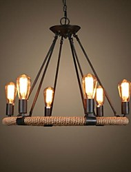 40W Chandelier ,  Traditional/Classic / Rustic/Lodge / Retro / Country / Vintage Painting Feature for Candle Style MetalLiving Room /