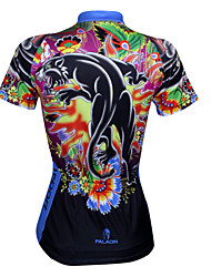 Fulang  Cycling Jerseys   breathe freely  wear resiting   Ultraviolet Resistant  leopard SC122