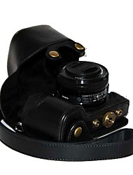 pajiatu® pu câmera pele óleo de couro caso capa protetora saco para Sony Alpha A6000 a6000l ilce-6000L NEX-6
