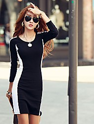 New Fashion Fitted Long Sleeve Dress
