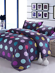 Mingjie Purple Circles Bedding Sets 4pcs Duvet Cover Sets Bed Linen China Queen Size and Full Size