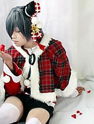 Black Butler Ciel Phantomhive Red Plaid Christmas Costume