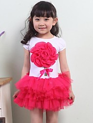 Girls Red Big Flower Tutu Dance Party Pageant  Princess Kids Clothes Dresses