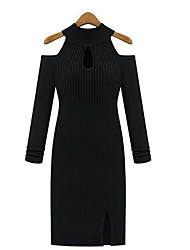 Women's Sexy Slim Off  Shoulder  Dresses
