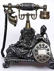 European Style Polyresin Material Home Decor Telephone with ID Display