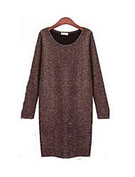 Clement Women's New European Slim Large Yard Long Sleeve Bottoming Dress Bottoming Dress