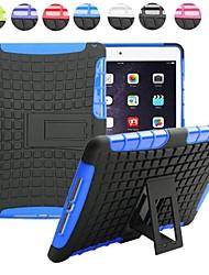 deux-en-un grain de pneus pc de conception et étui en silicone avec support pour iPad 2 (air couleurs assorties)