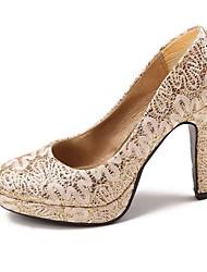 Women's Wedding Shoes Heels/Round Toe Heels Wedding Gold