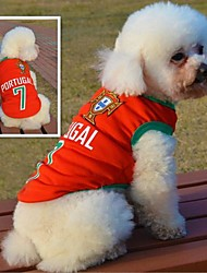 Fashionable Portugal Football Team Pattern Vest for Pet Dogs(Assorted Sizes)